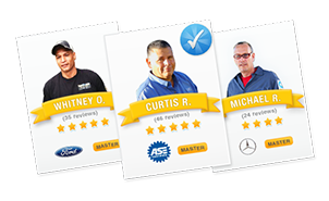 All mechanics go through an extensive screening process. Users can also view ratings and reviews from real customers